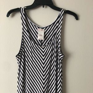Ladies Merona striped long maxi dress size large